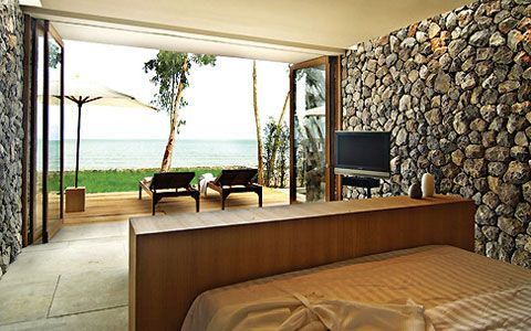 architecture and interior design. Stone Villa On The Beach Resort Kui Buri \u2013 Bungalow Home Design Ideas Architecture And Interior A