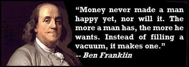 What were the two most important events in Ben Franklin's life?