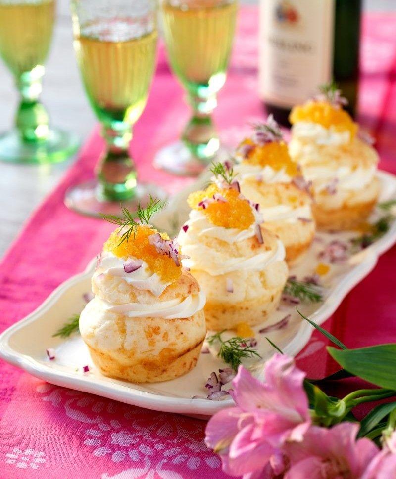 Muffins är inte bara en fikafavorit! De här passar utmärkt som förrätt.