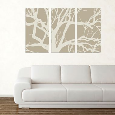Tree Canvas Wall Art From Jcpenney But I Can Do Something Like This Wall Decor Living Room Art Home Decor