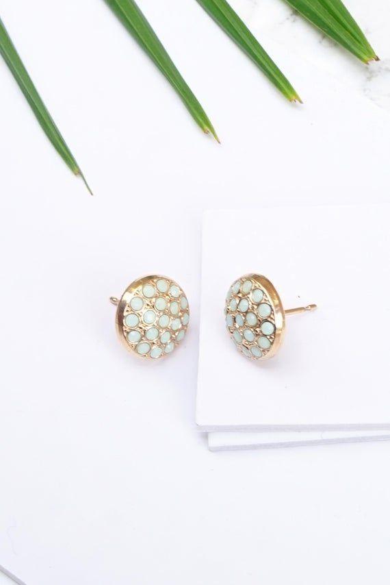 Opal Post Earrings Pave Earrings Bridesmaids Jewelry Multistage Earrings Swarovski Post E Opal Post Earrings Pave Earrings Bridesmaids Jewelry Multistage Earrings Swarovs...