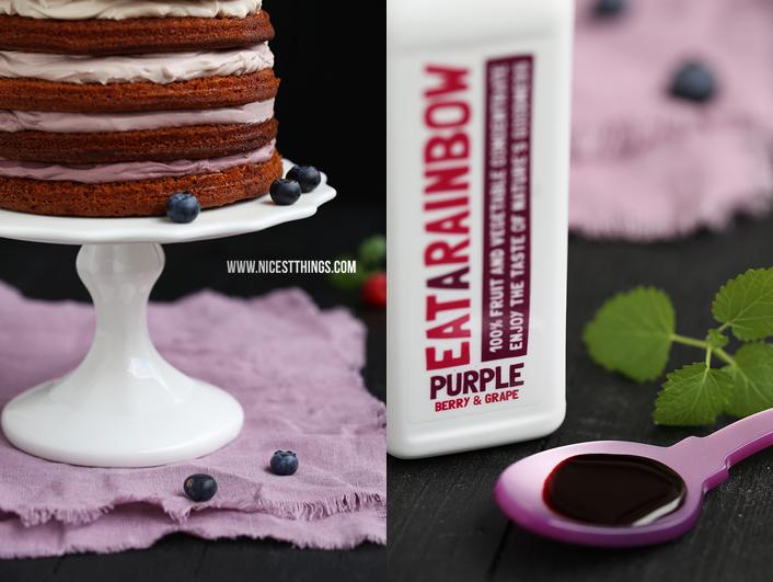 Nicest Things: Berry Layer Cake / Rainbow Cake / Naked Cake / Eat A Rainbow / PURPLE