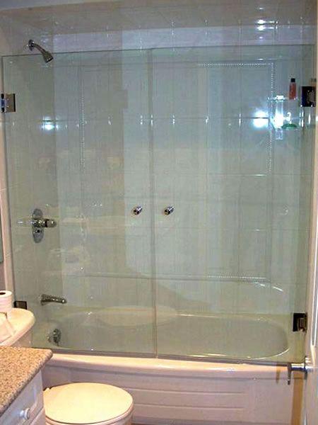 glass hinged tub doors - Google Search | Lighting/Bath Tub panels ...