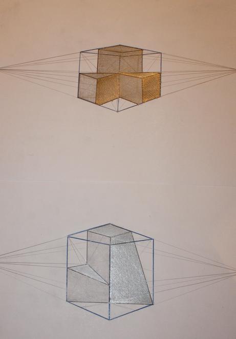Perspectiva Con 2 Puntos De Fuga Expresion Grafica Ia Expresion Grafica Tecnicas De Dibujo Punto De Fuga