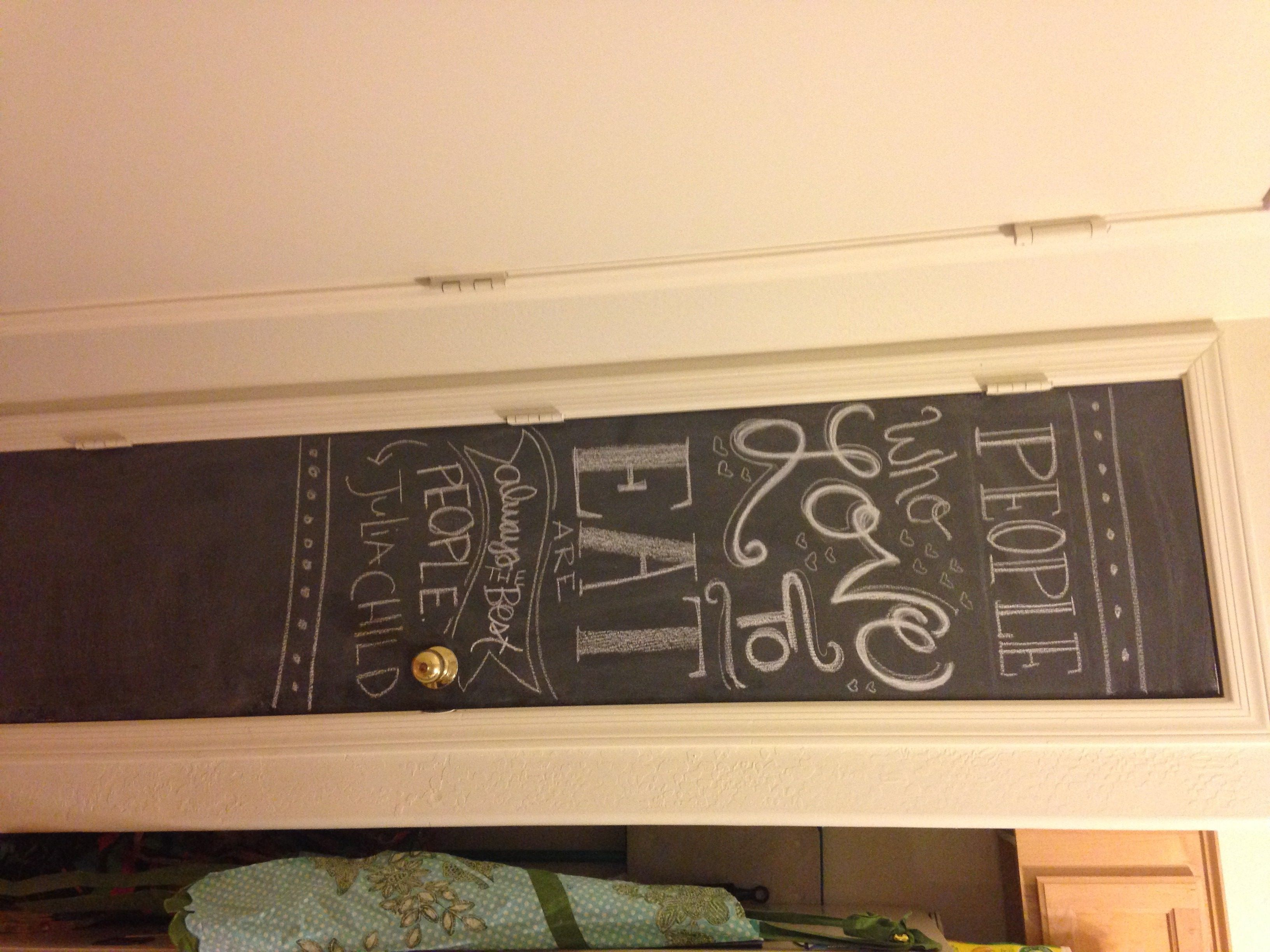 Kids Chalkboard and Magnet Wall DIY | Chalkboards, Kitchens and ...