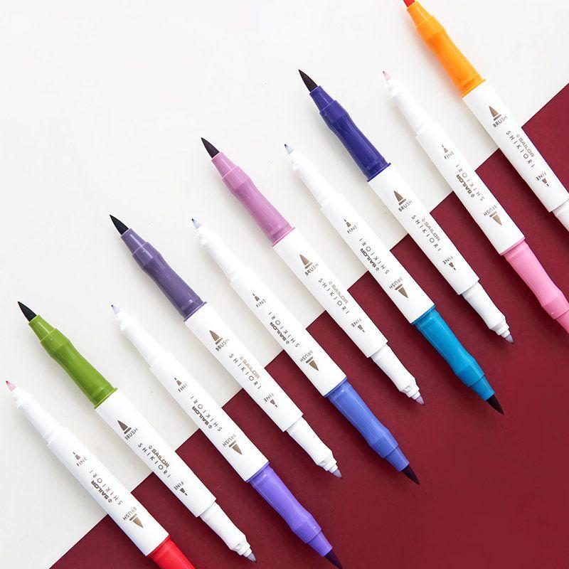 Japan Sailor Four Seasons Color Soft Pen Double And Soft Head