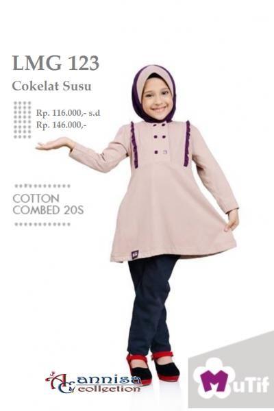 Jual beli Baju Tunik Anak little mutif LMG-123 Cokelat Susu di Lapak  Aprilia Wati - agenbajumuslim. Menjual Kemeja af95e15e52
