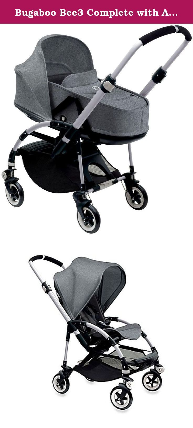 Bugaboo Bee3 Complete with Aluminum Base and Grey Melange