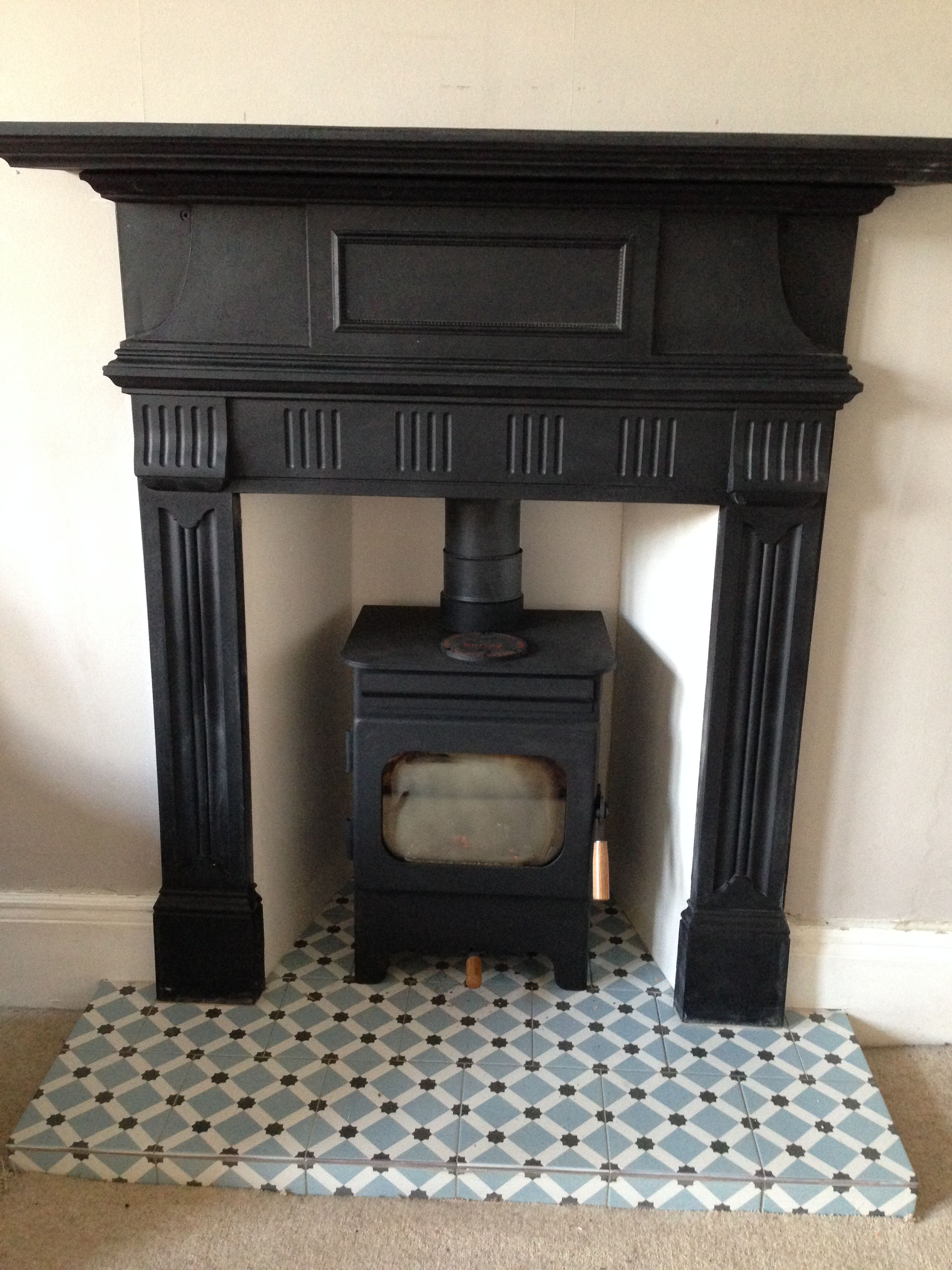 Debdale Wood Burning Fire Reclaimed Cast Iron Surround Fired