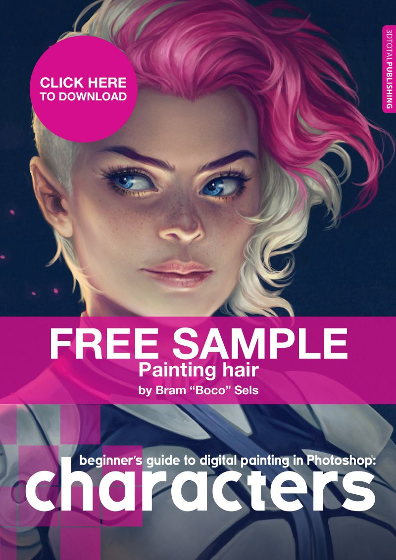 discover how to paint hair in photoshop in this free sample of