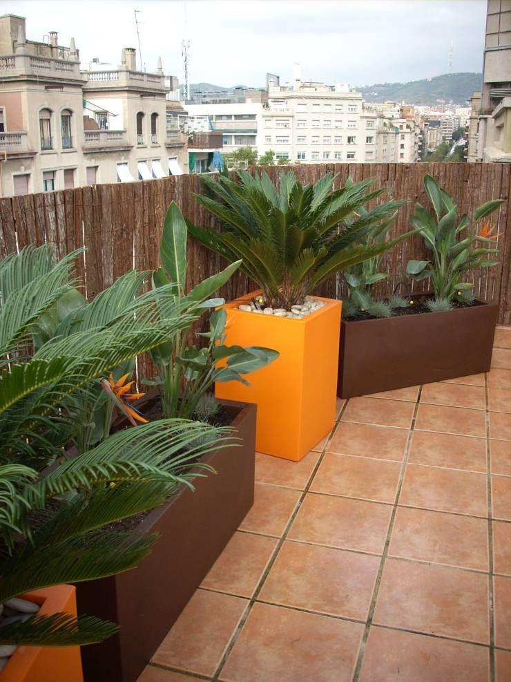 Terraza En Atico En Barcelona De Paisajismo Digital Techos
