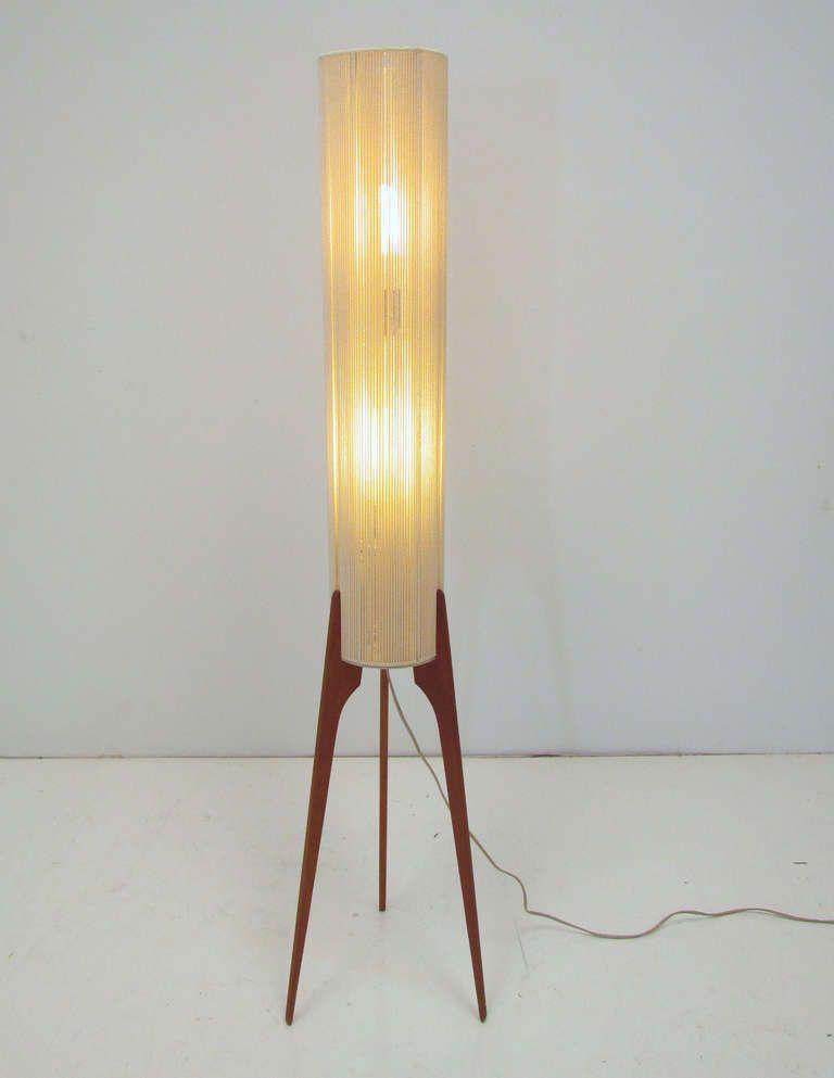 Teak Floor Lamps: Danish Teak Tripod Floor Lamp ca. 1960s,Lighting