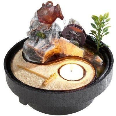Fontaine à eau ronde Zen style - fontaine a eau d interieur