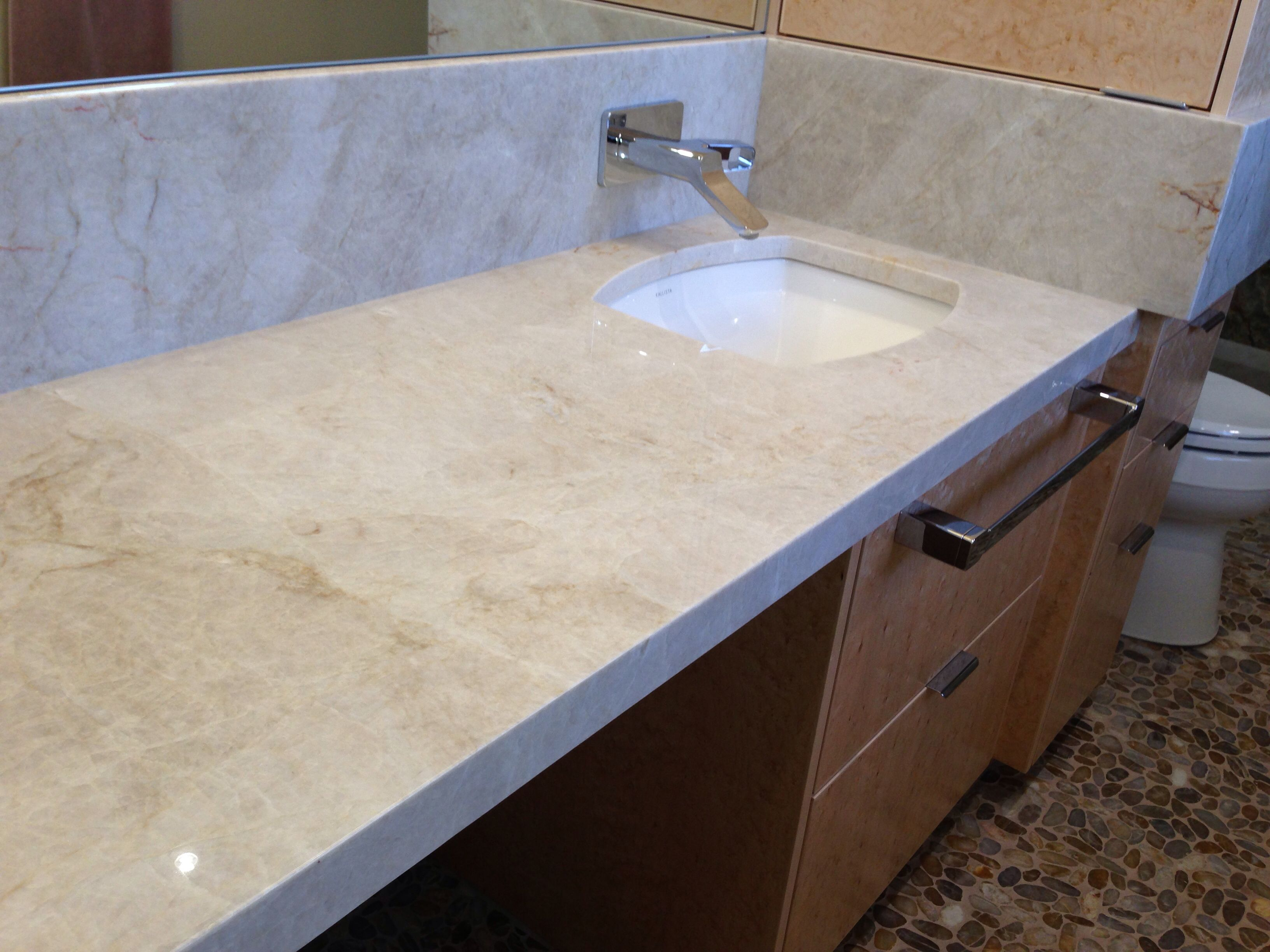 Taj Mahal Bathroom Counter Top   Quartzite