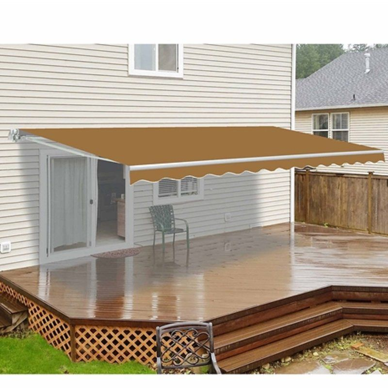240 W X 120 D Motorized Retraction Slope Patio Awning Patio Canopy Patio Design Pergola