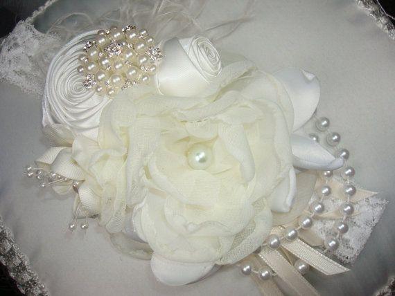 Baby Flower Headbands Bridal Headbands Baby by lepetitejardin, $27.95