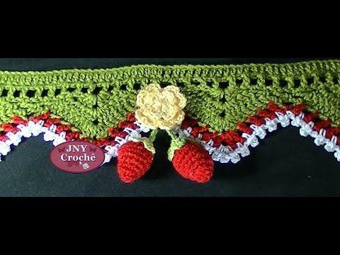 Passo A Passo Morangos De Croche Para Barrados Por Jny Croche Com