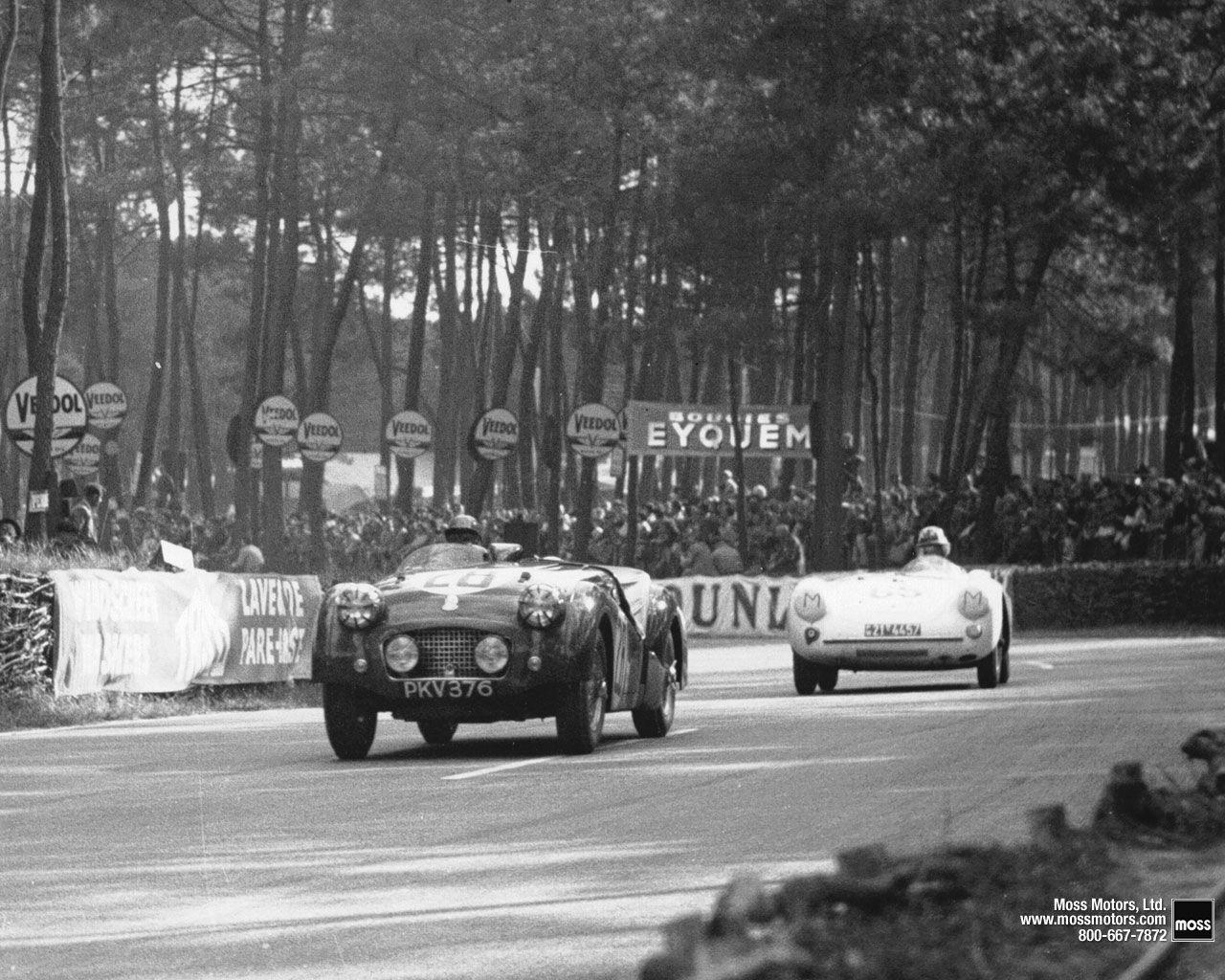 Triumph vs Porsche at Le Mans