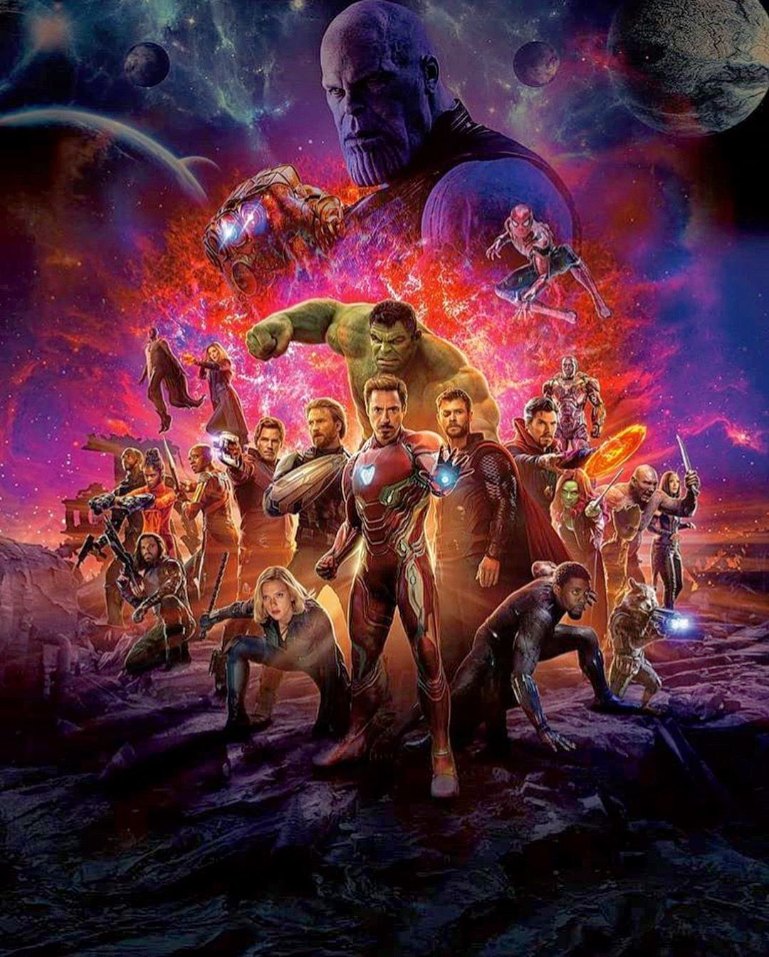 The Chinese Theatrical Poster Without Text For Infinity War Marvel Vs Dc Comics Peliculas Marvel Regalos Marvel