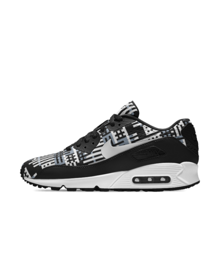 buy popular 37a5a 0bd18 Hot Sale Nike Mens Air Max 90 EM iD Black White Blue Shoe
