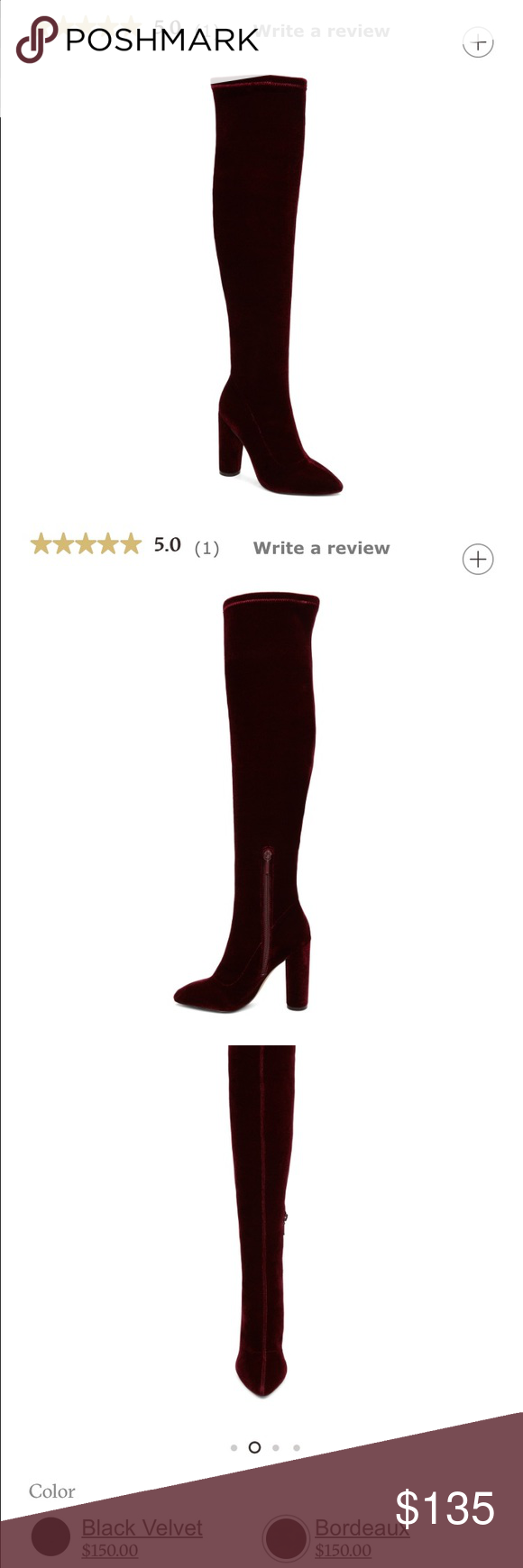 NEW ALDO Slyvana boots New item from ALDO. Brand new, just tried on. Over the knee boots in burgundy (Bordeaux). Perfect for the holidays/ New Years! Stretchy leg fabric so perfect for all sizes. If you usually have trouble finding something to fit your calf, these are perfect for you! Aldo Shoes Over the Knee Boots