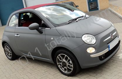 Fiat 500 Wrapped Matte Grey With Images Fiat 500 Fiat