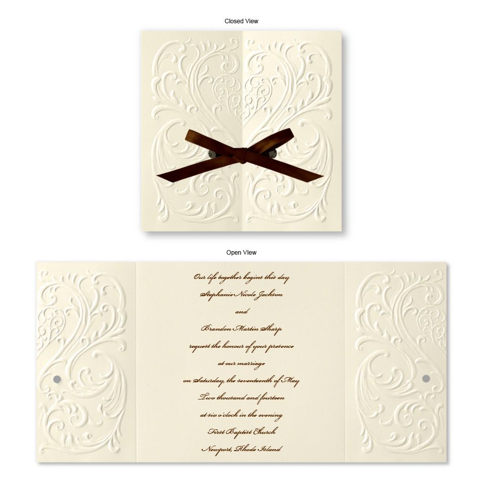 Versailles Wedding Invitations, 160.00 for 50 with response cards