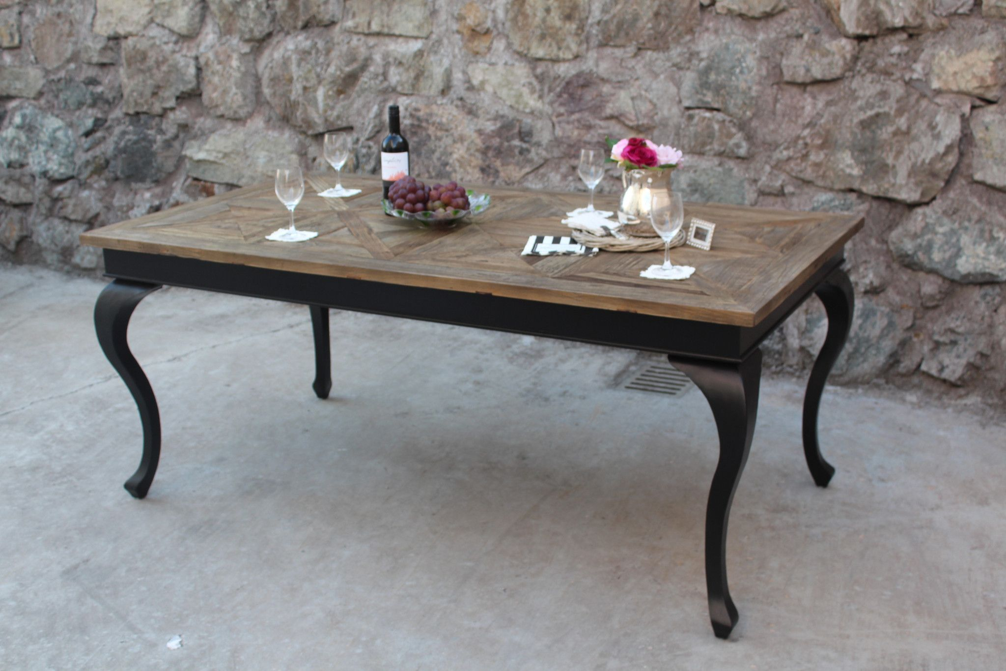 Paris Spisebord (Drivved+Sort)