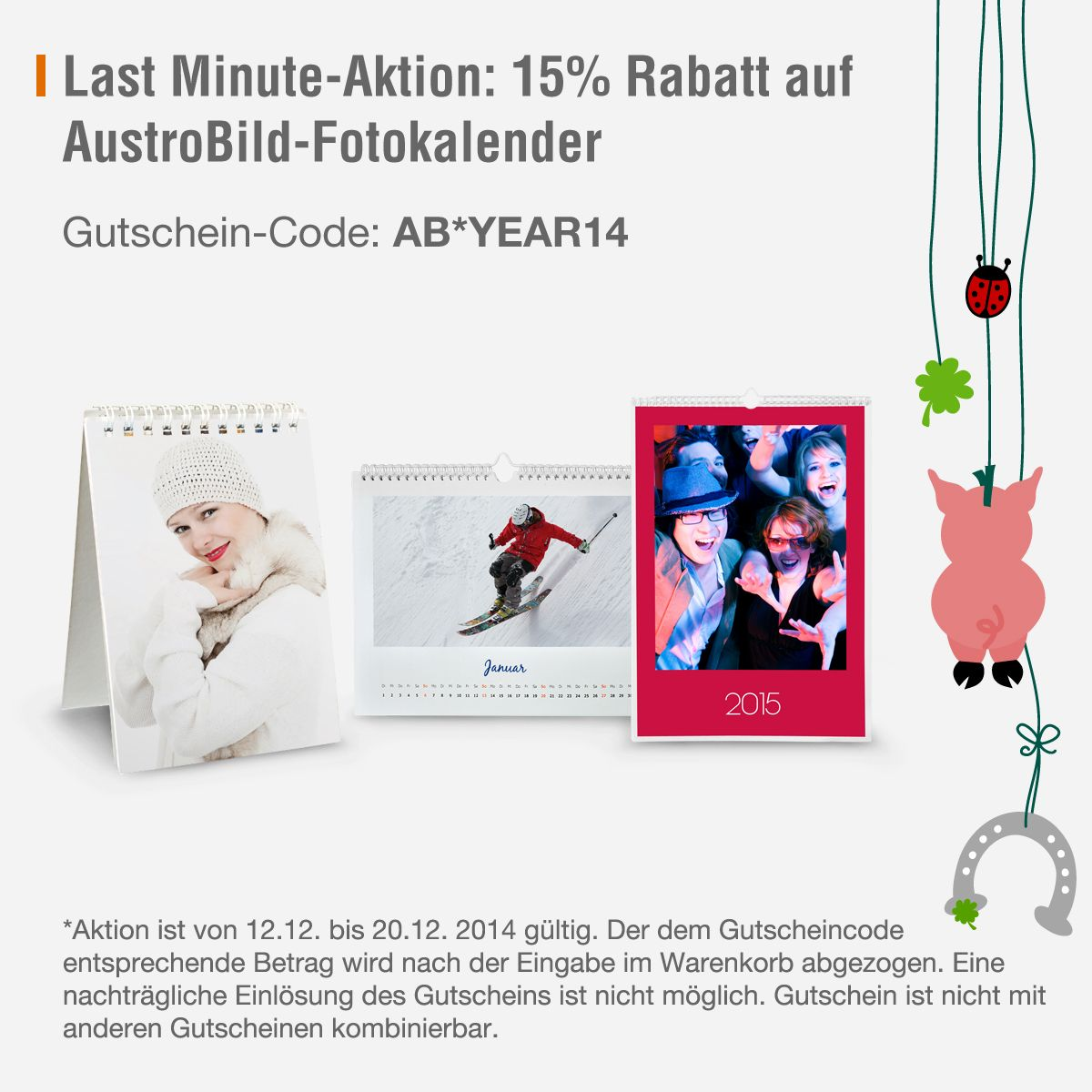 Last Minute Fotokalender: 15% Rabatt auf selbst gestaltete Kalender ...