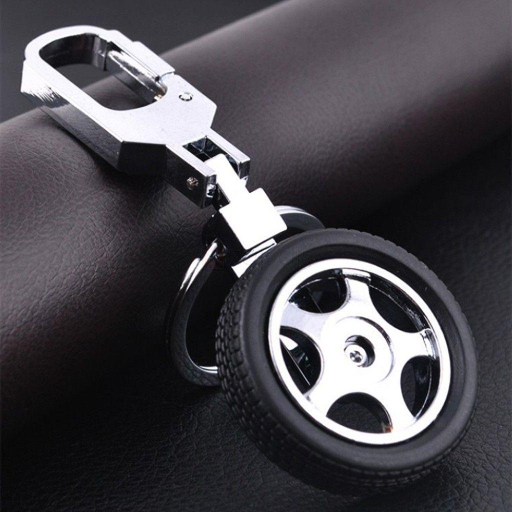 Rotatable Tire Keychain Keyring With Honda Car Logo Unisex Metal