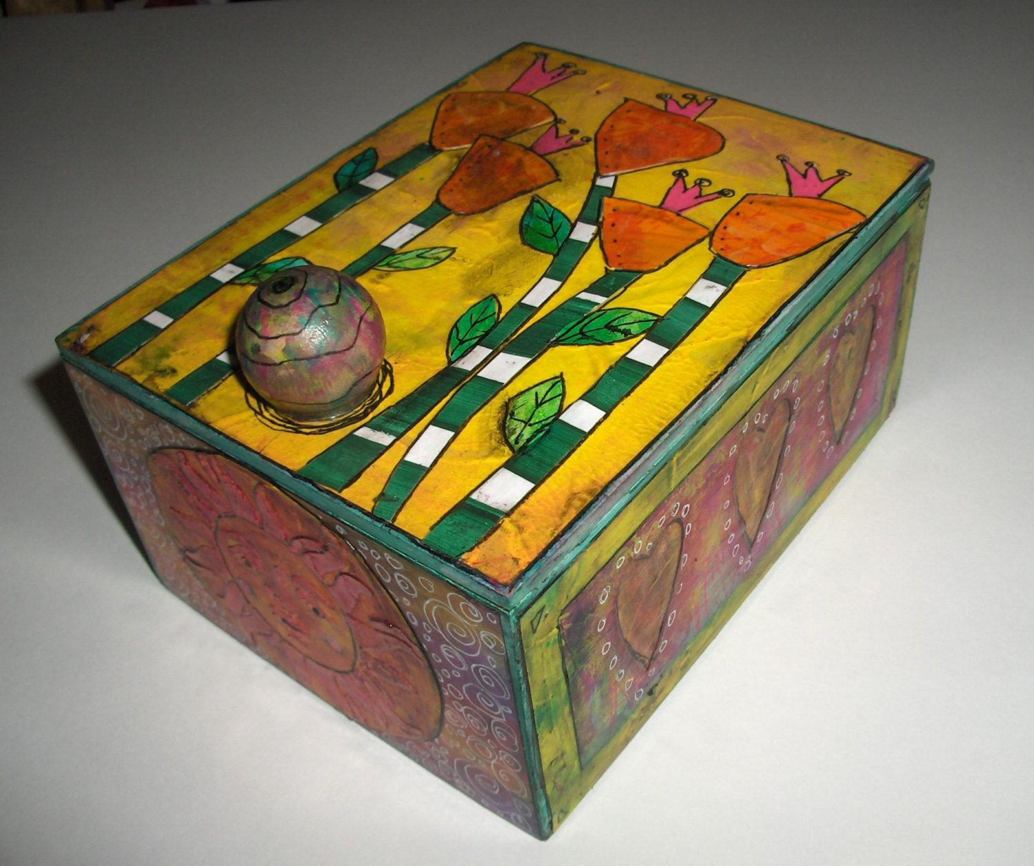 whimsical wooden box