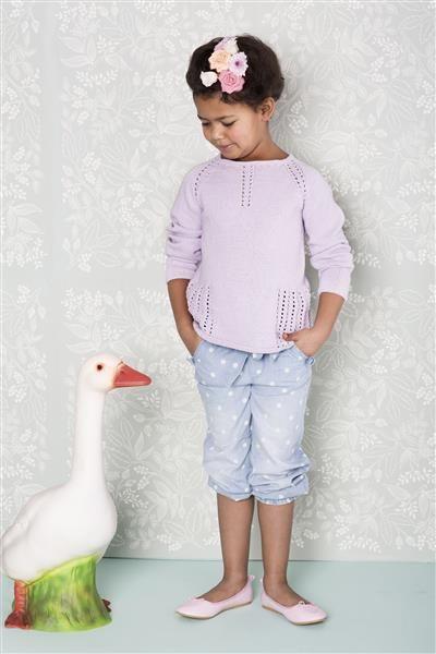 0758c8c5 1407: Modell 4 Genser med hullmønster #strikk #bomull | Barn ...