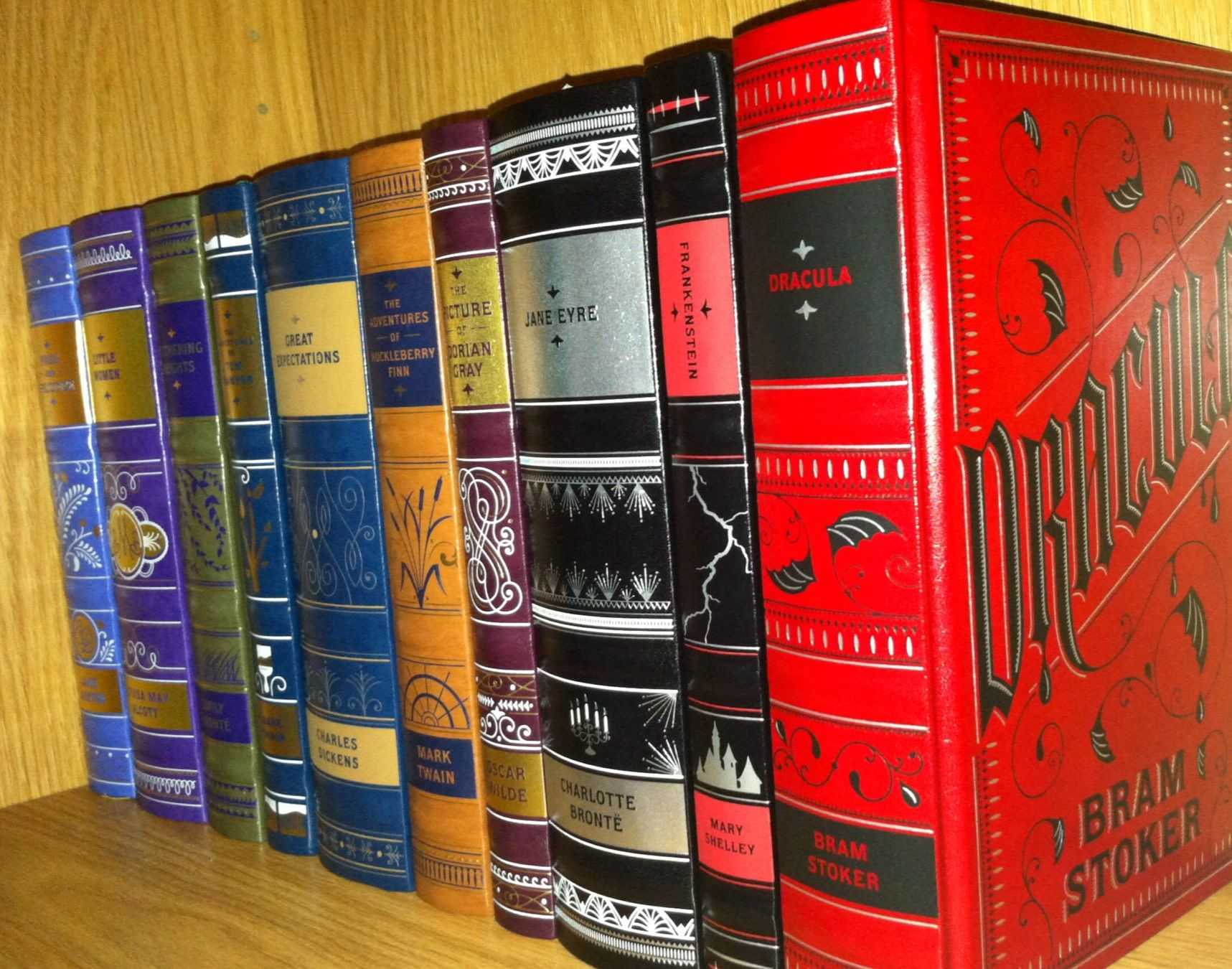 Beautiful Barnes and noble leather bound classics books part of