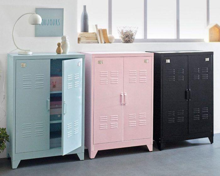 o trouver une grande armoire m tallique au style. Black Bedroom Furniture Sets. Home Design Ideas