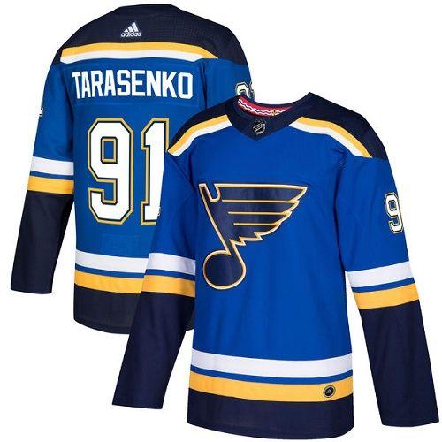 Men's St. Louis Blues #91 Vladimir Tarasenko Adidas Home Blue NHL Jersey