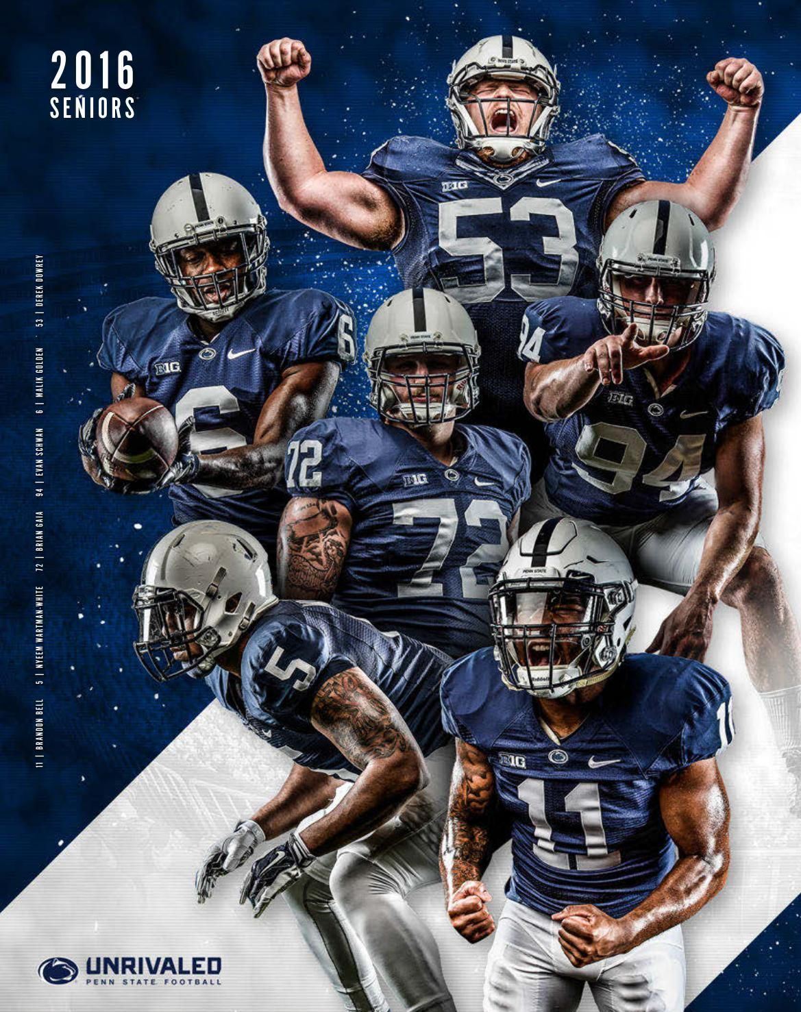 2016 Penn State Football Yearbook Sports graphic design