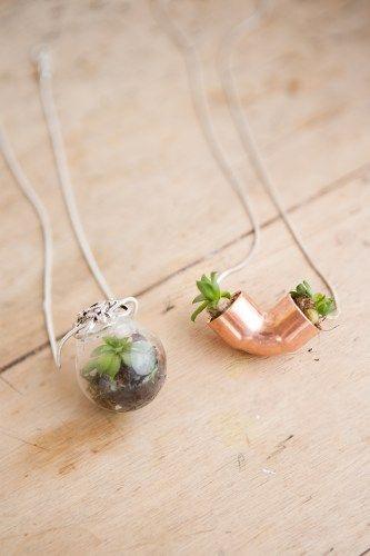 diy r aliser un pendentif pour petite plante diy for. Black Bedroom Furniture Sets. Home Design Ideas