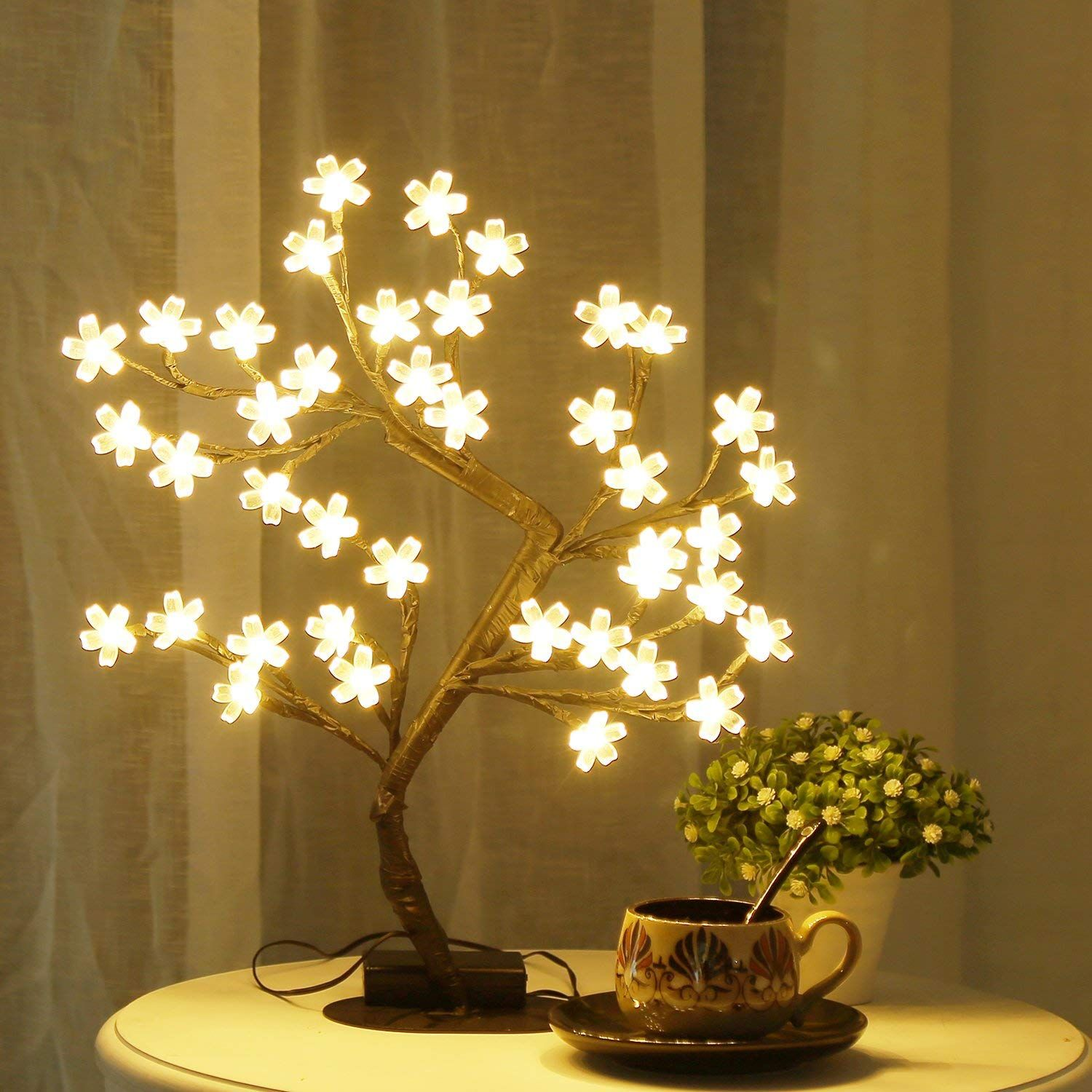 Bolylight Led Cherry Blossom Tree Table Lamp 16 73 40l Centerpiece Indoor And Outdoor Decoration Tree Lamp Tree Lighting Table Lamp