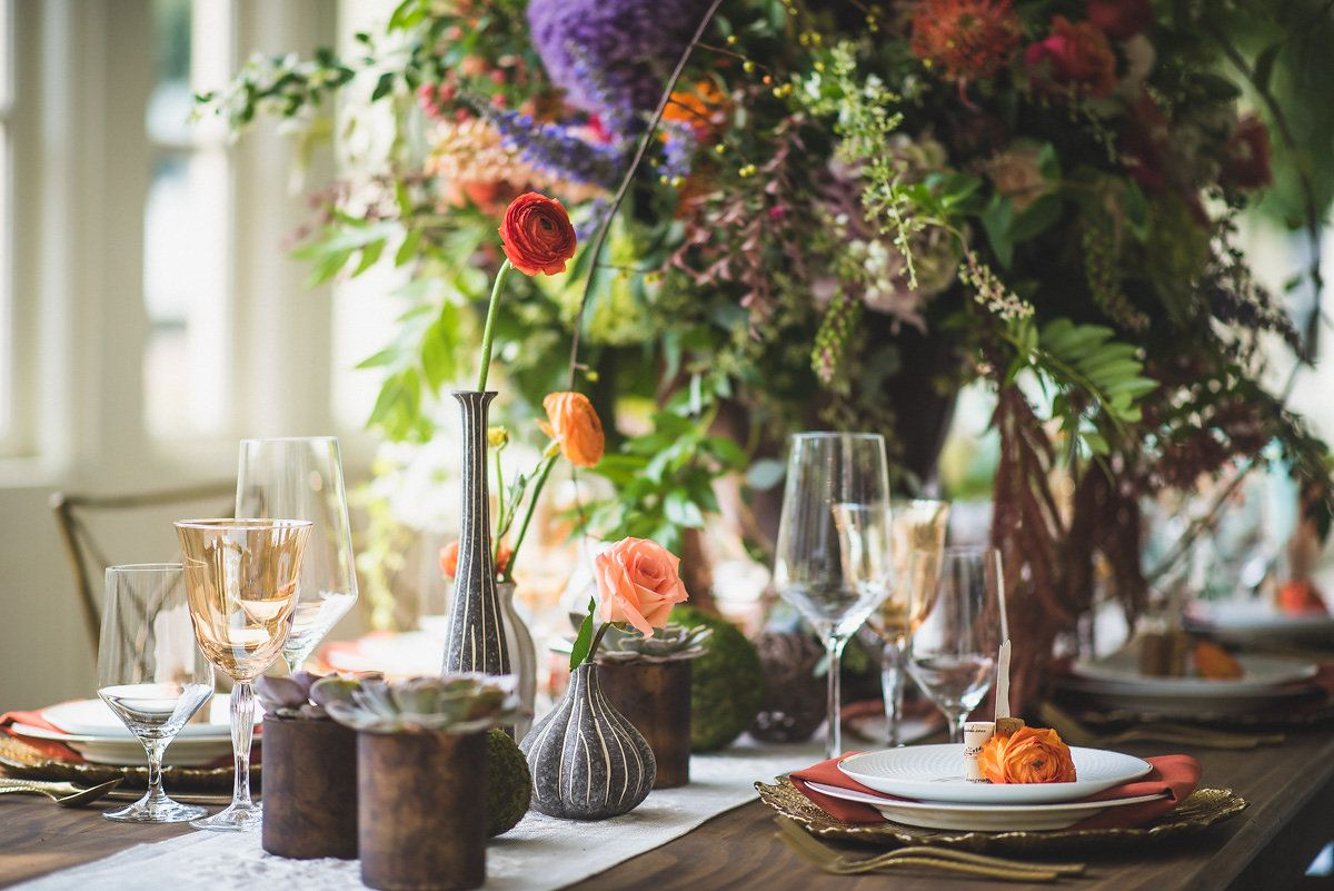 Wedding decoration ideas for tables  Floral Design The Flower Cupboard in Cary NC Whimsical Wedding