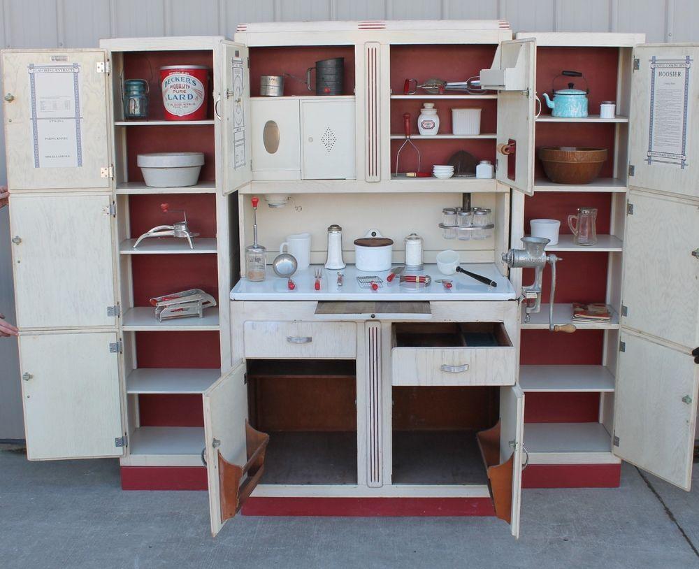 Very Rare 8 Pc Deco Era Original Paint Oak Hoosier Kitchen Cabinet Set Kitchen Set Cabinet Old Cabinets Vintage Cupboard