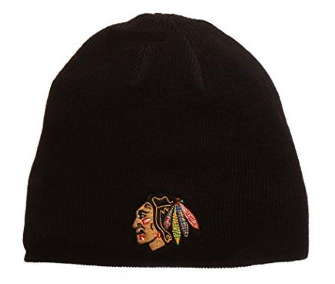 0995df5f0 Chicago Blackhawks Black Edge Knit Hat | different hats | Knitted ...