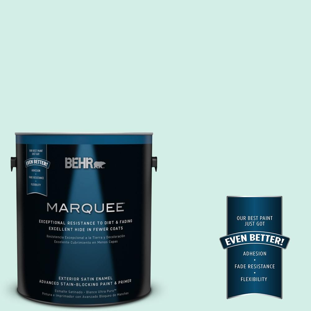 BEHR MARQUEE Home Decorators Collection 1-gal. #hdc-MD-19 Soft Mint Satin Enamel Exterior Paint