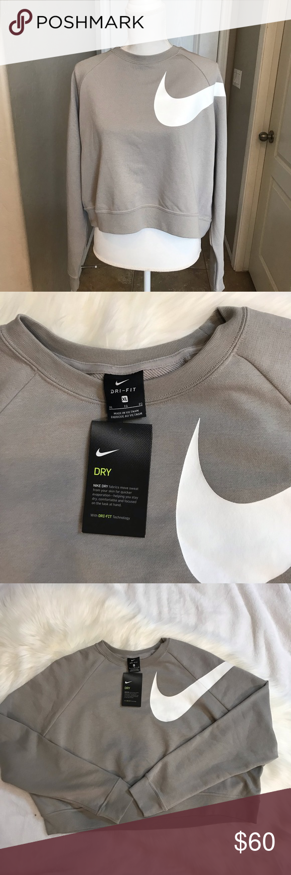 Nike Versa Crop Sweatshirt Nwt Crop Sweatshirt Clothes Design Sweatshirts [ 1740 x 580 Pixel ]