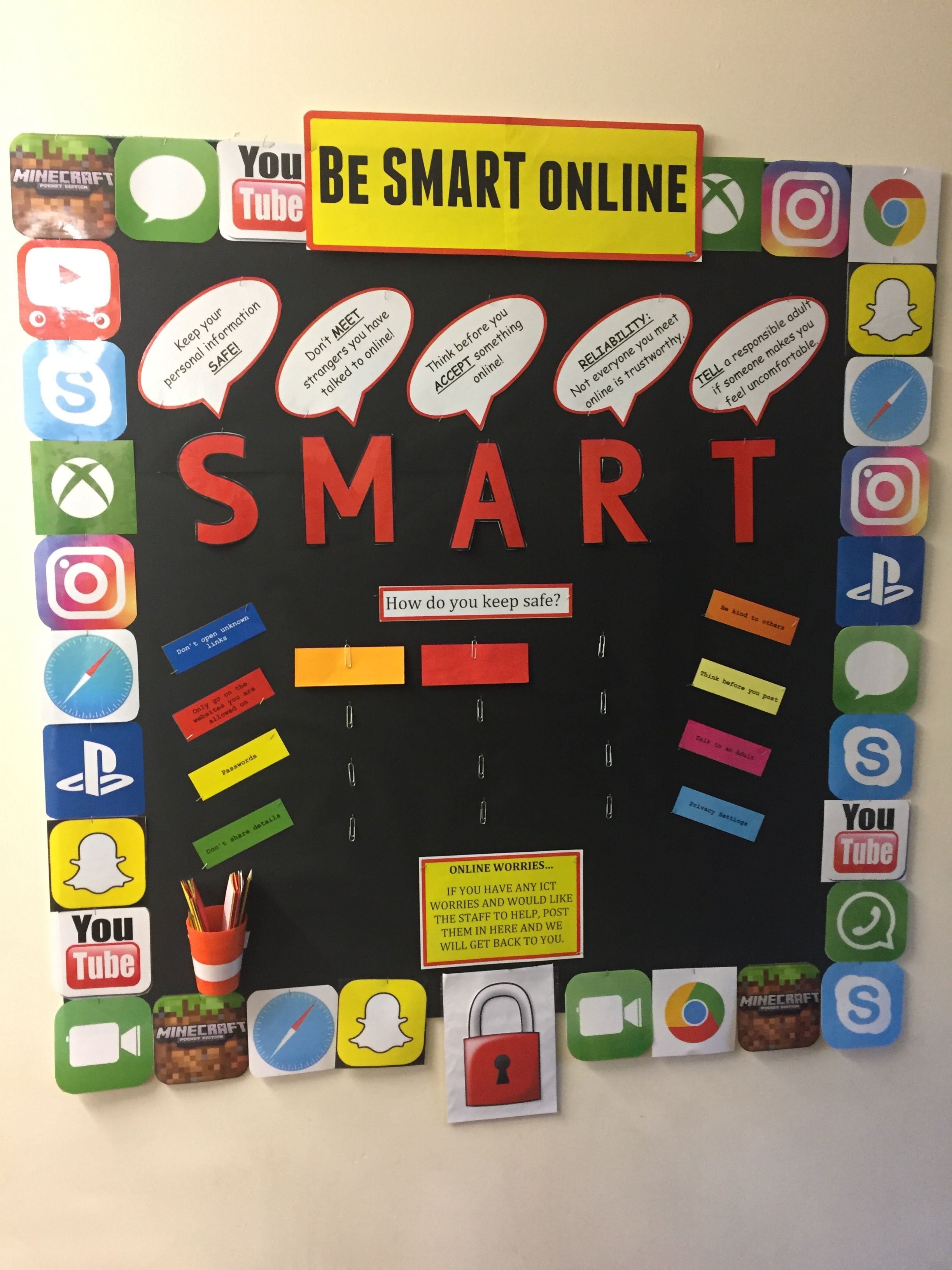 ICT / safety display Display boards for school