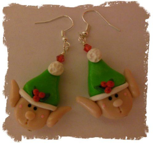 Hey, I found this really awesome Etsy listing at http://www.etsy.com/listing/169490091/polymer-clay-christmas-elf-earrings
