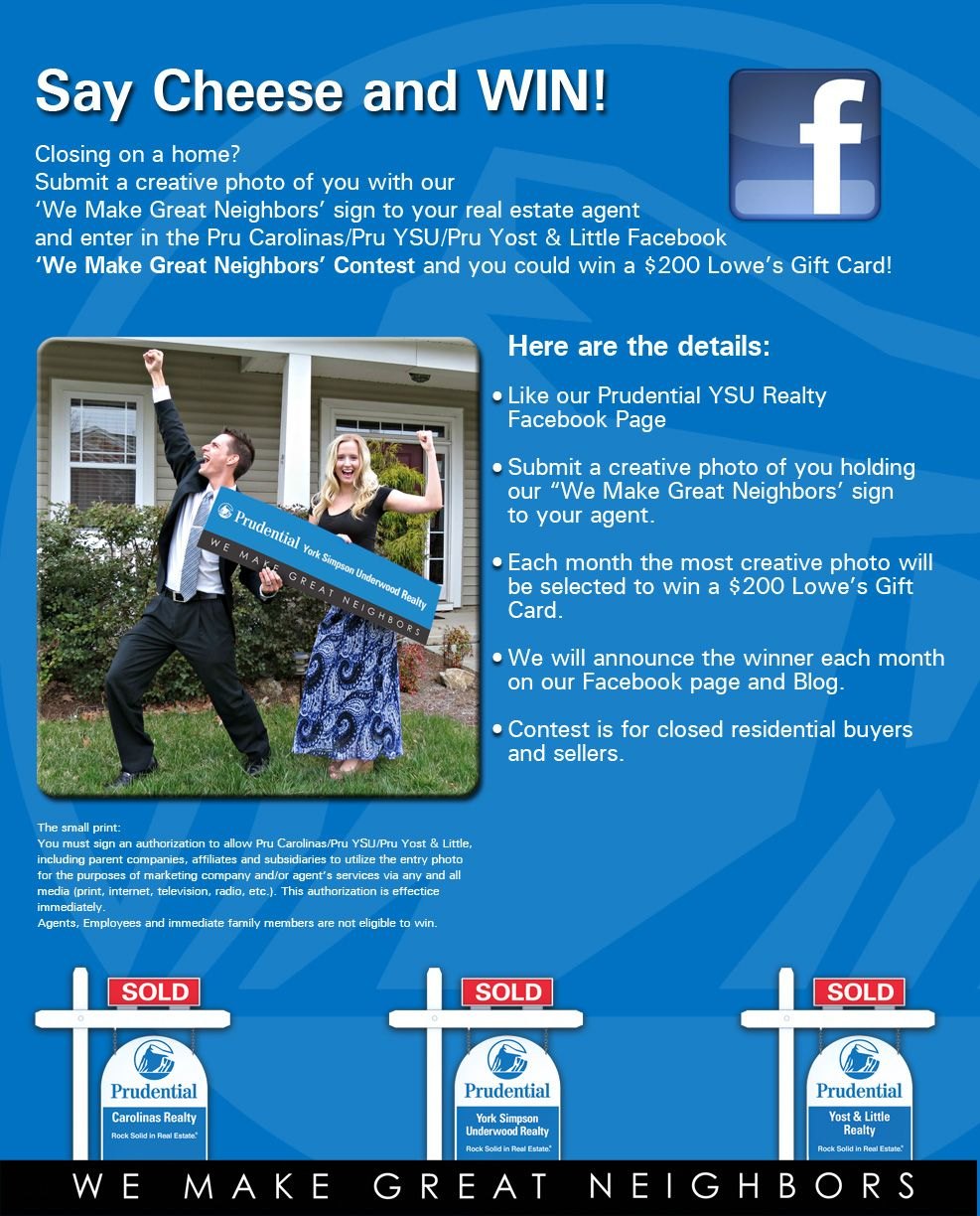 We Make Great Neighbors Facebook Contest Enter To Win A Lowe S Home Improvement Gift Card Facebook Contest Lowes Home Improvements Creative Photos