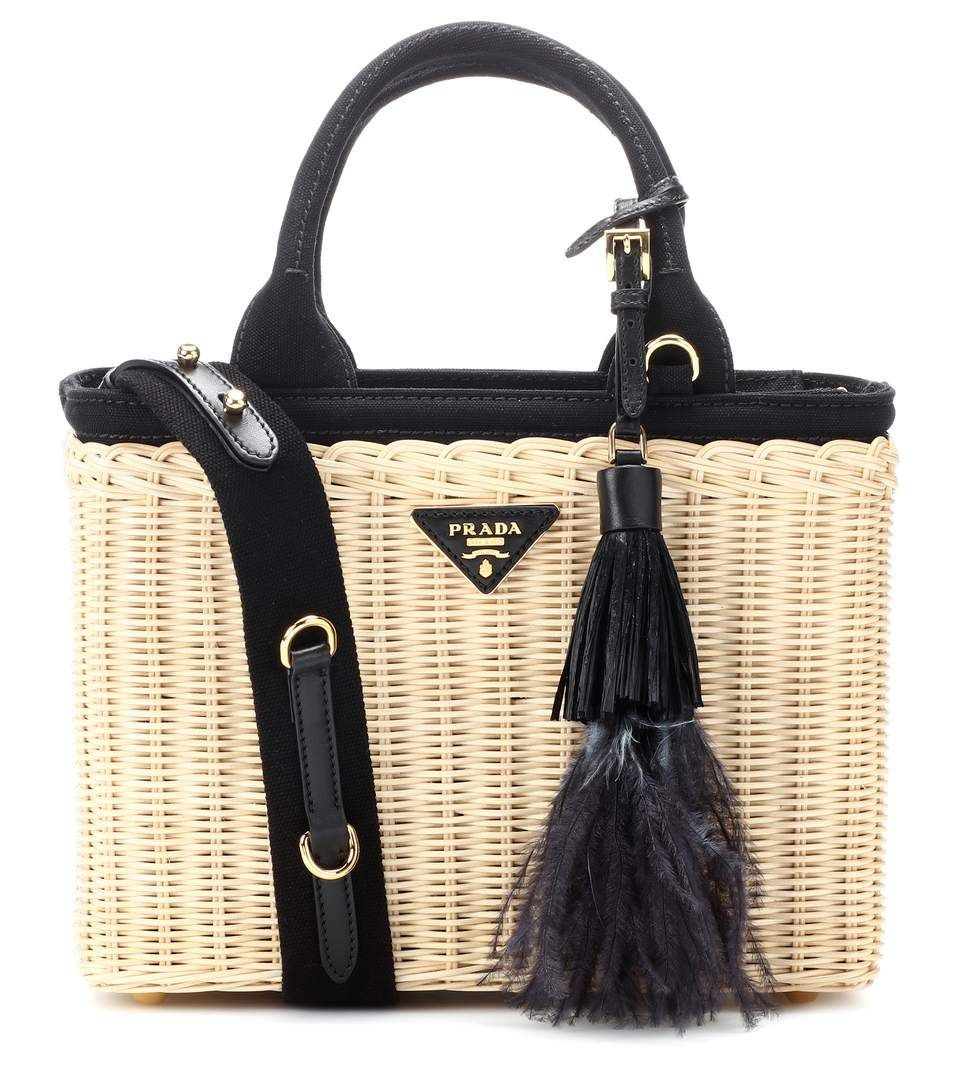 6dbe6db82a29 PRADA Bamboo basket bag. #prada #bags #canvas #leather #lining #accessories  #shoulder bags #charm #hand bags #
