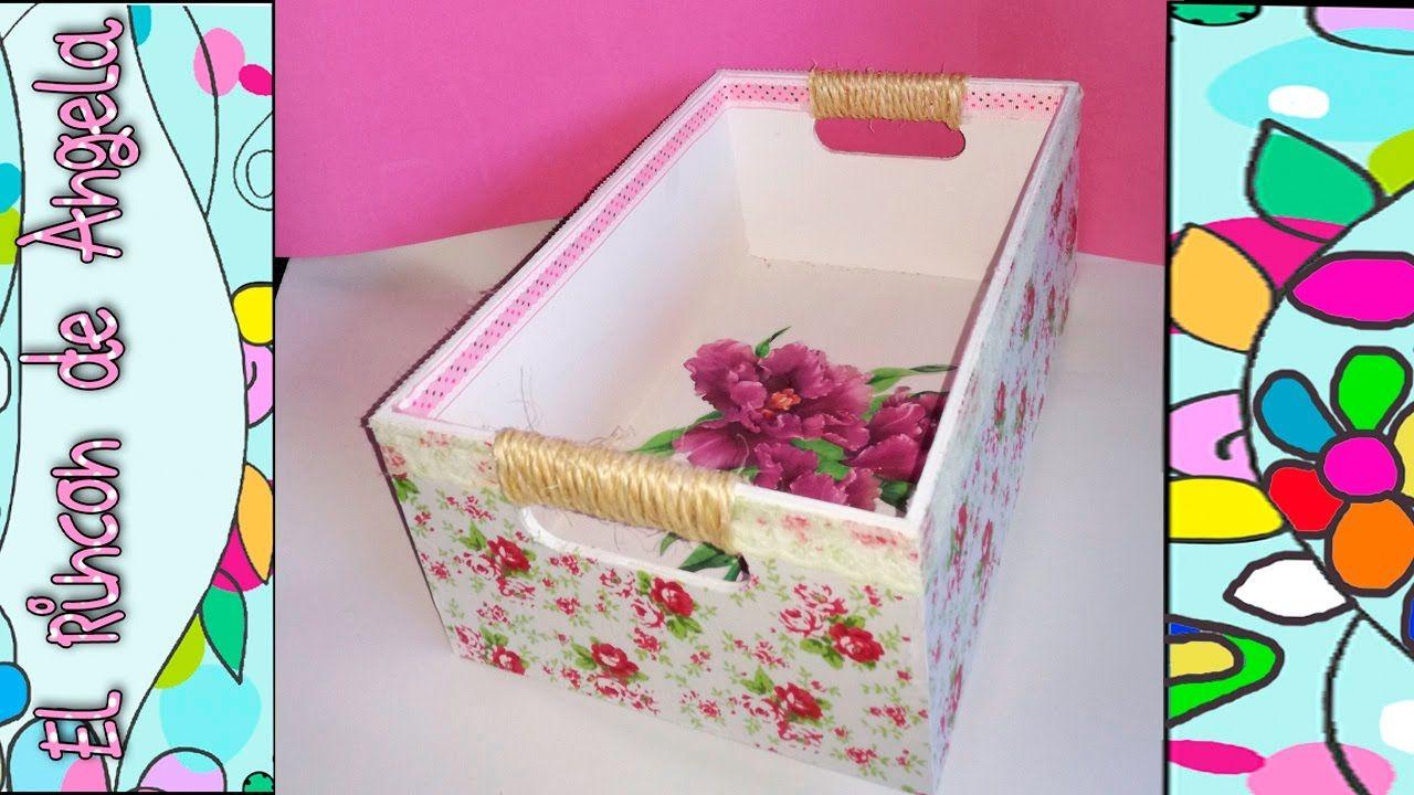 DIY Como decorar una caja de madera con papel mache, y decoupage  Regalo...