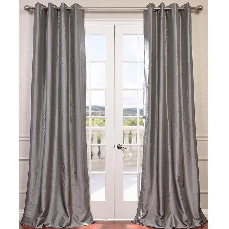 Bayley Faux Silk Taffeta Blackout Grommet Single Curtain Panel U0026 Reviews    Joss U0026 Main