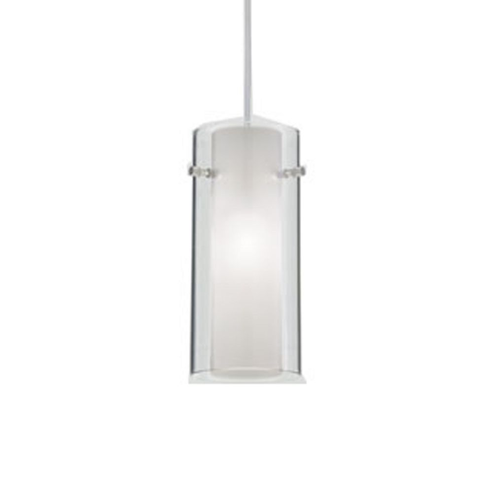 Juno Lighting Group Double Shade Art Glass Low Voltage Mini Pendant P160mf Stn